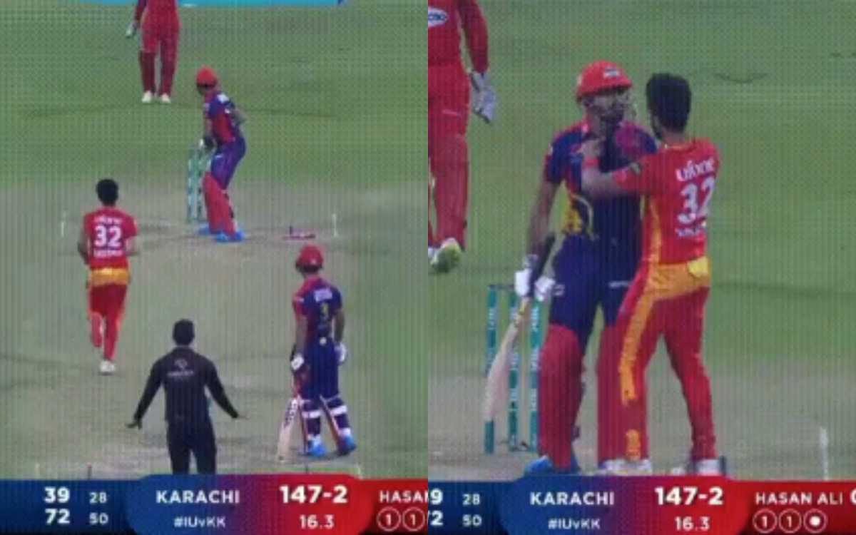 Cricket Image for VIDEO : हसन अली ने अपने ही कप्तान के लिए मज़े, पीएसएल में देखने को मिला मज़ेदार वा