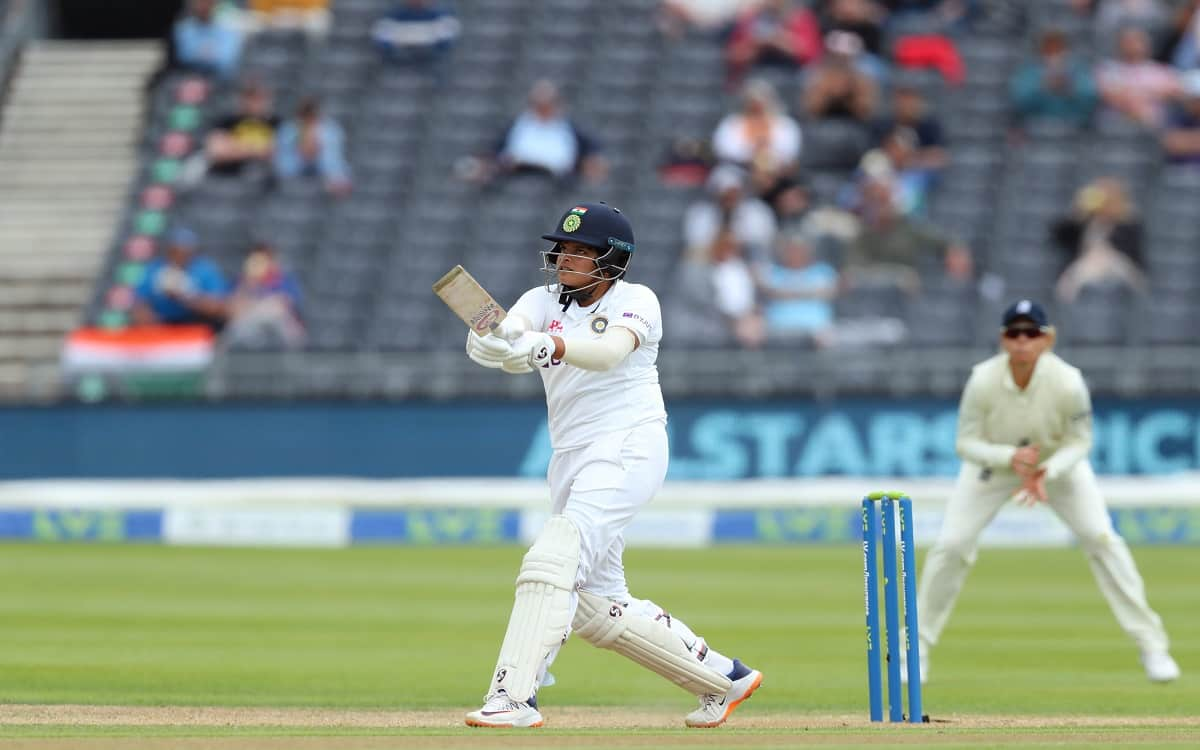 Cricket Image for The Indian Womens Cricket Team Passed The Follow On Test Against England With 6 Ru