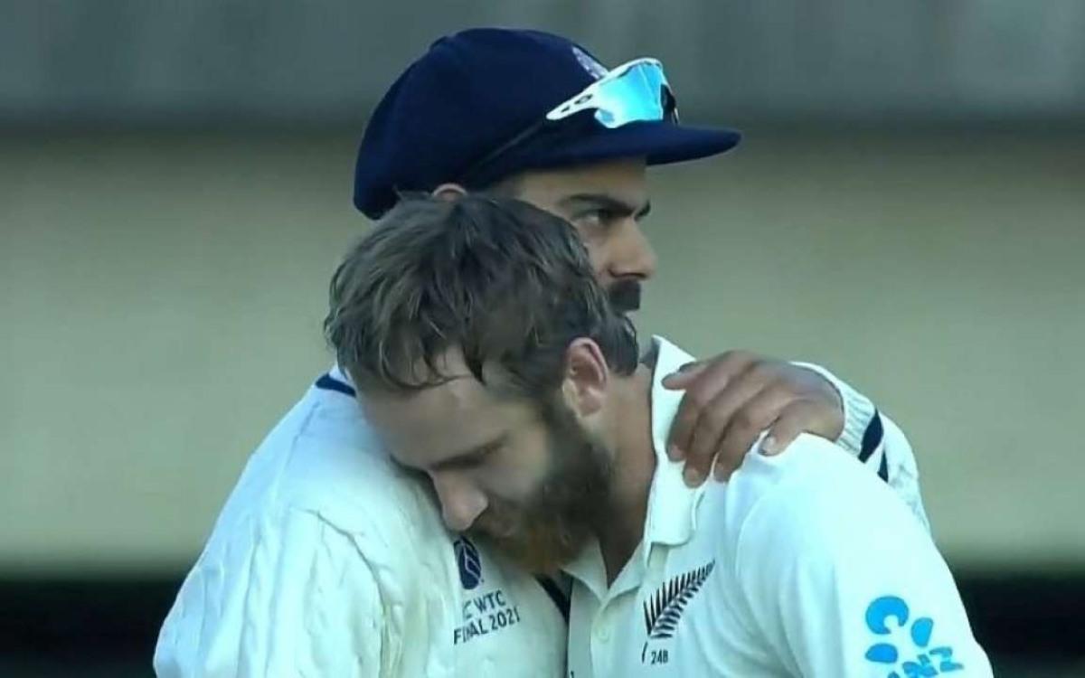 Cricket Image for केन विलियमसन ने खोला राज़, बताया- विराट के साथ गले लगने वाली वायरल फोटो का सच