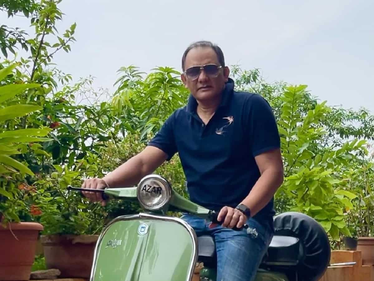 Cricket Image for 'Acknowledgment Of My Talent': Mohammad Azharuddin Posts Photos Of Old Scooter