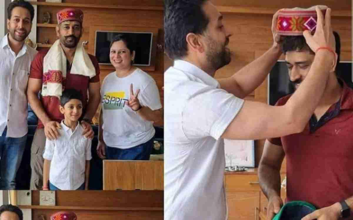 Cricket Image for हिमाचली टोपी और राउडी मुंछों में माही ने ढाया कहर, वायरल हुआ एमएस धोनी का नया लुक