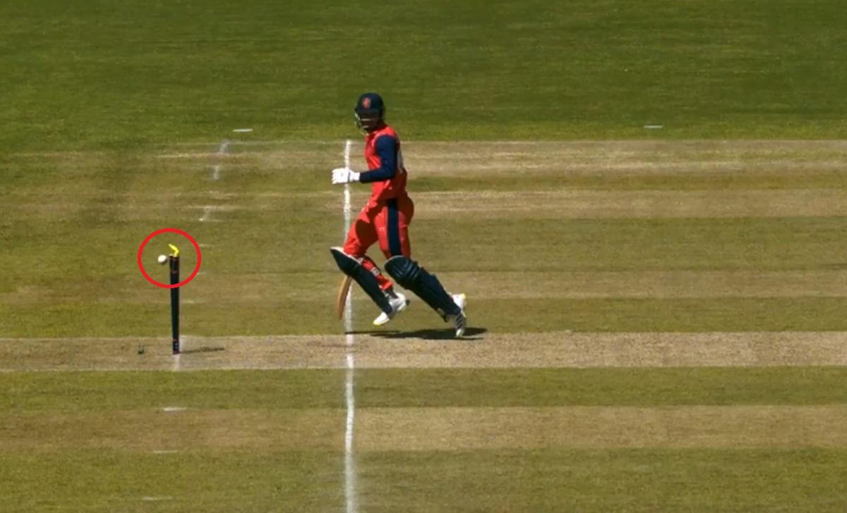 Cricket Image for Netherlands Vs Ireland 2021 Saqib Zulfiqar Runout Watch Video