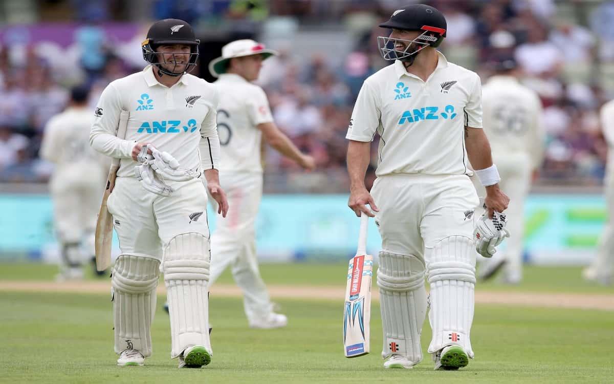 Cricket Image for इंग्लैंड के खिलाफ दूसरे टेस्ट मैच में न्यूजीलैंड की पकड़ मजबूत, 23 रनों की बढ़त के
