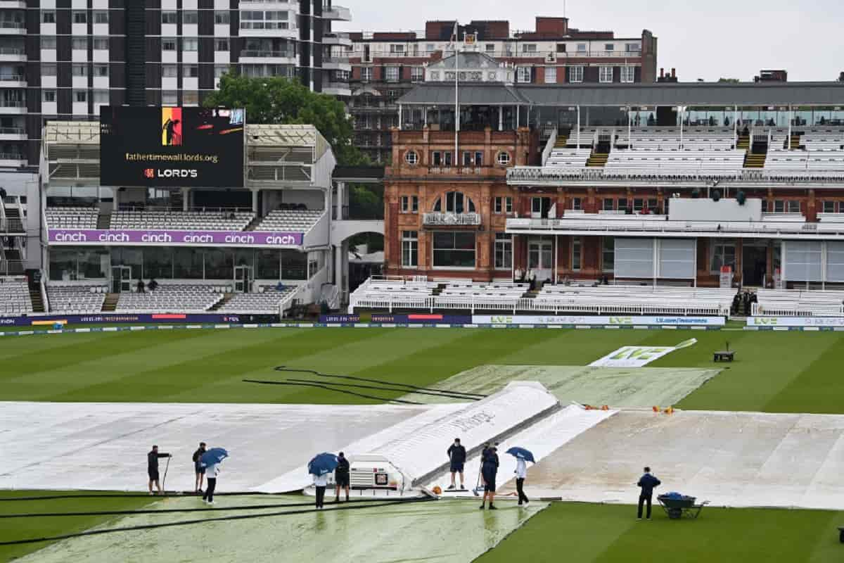 Cricket Image for Rain Frustrates England And New Zealand As Third Day Of 1st Test Washed Out
