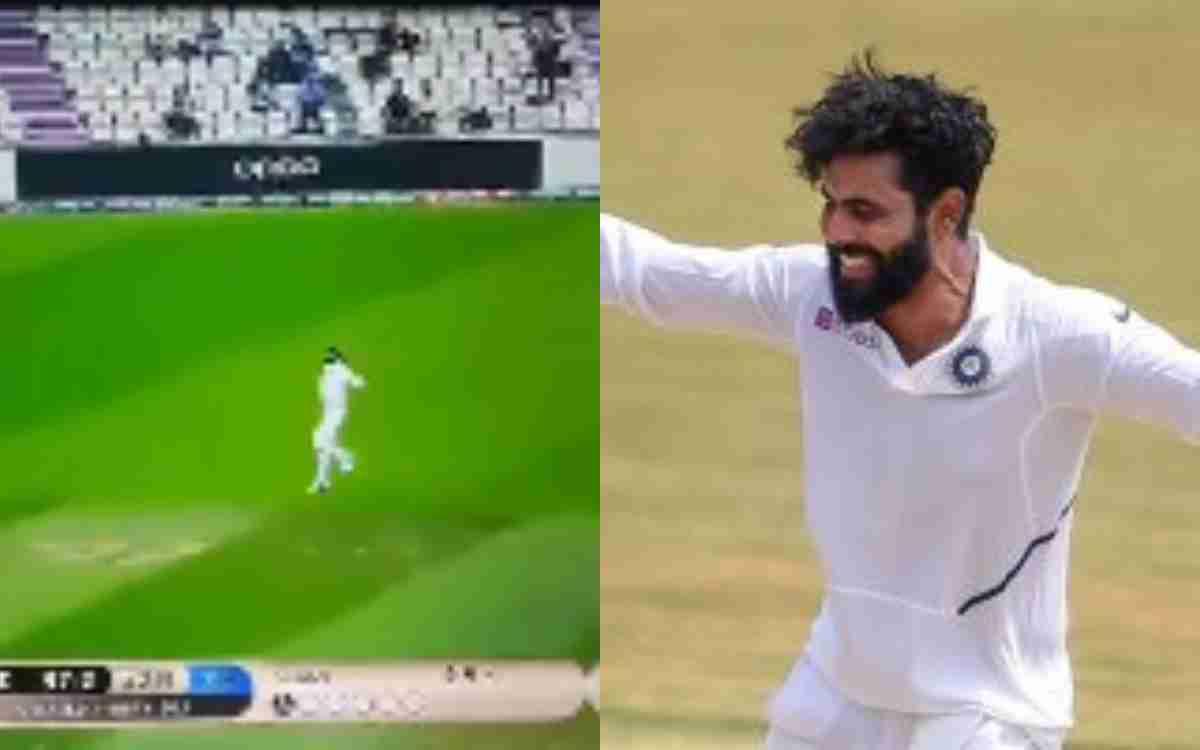 Cricket Image for VIDEO : सर जडेजा ने 'Fake Catch' से किया फैंस को ट्रोल, WTC Final के आखिरी दिन दिख