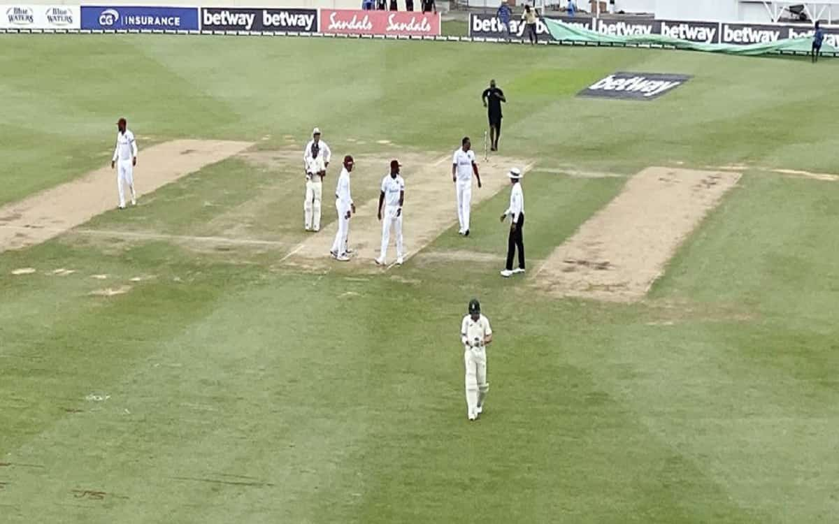 Cricket Image for WI vs SA: South Africa Labour To 44-3 At Lunch In Second Test Against West Indies