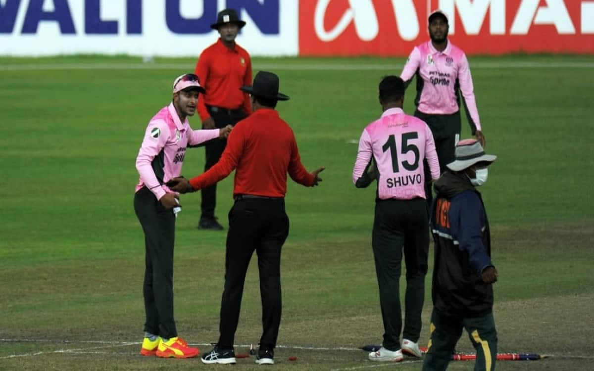 Cricket Image for Shakib Al Hasan Gets A Big Punishment For Showing Anger At The Umpire