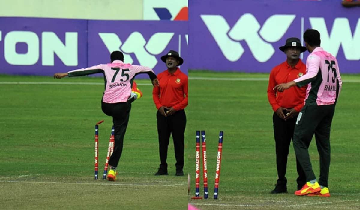 Shakib Al Hasan Loses His Cool During A Dhaka Premier League Match