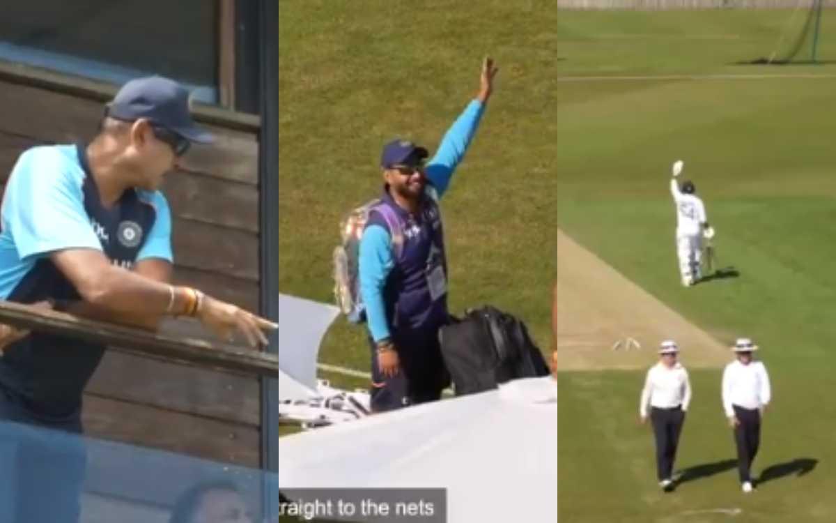 Cricket Image for VIDEO : 'रवि भाई, शार्दुल को देखो', ठाकुर ने की ऐसी हरकत; पंत और शास्त्री रह गए है