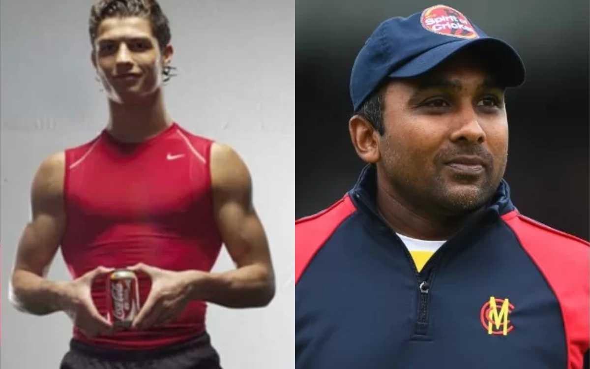 Cricket Image for जयवर्धने ने किया रोनाल्डो को ट्रोल, कोका कोला की AD करते हुए शेयर की पुरानी फोटो