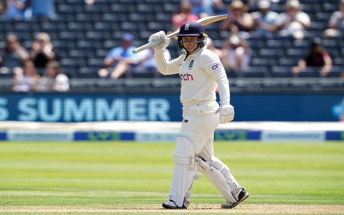 Cricket Image for England Women Team Strong Till Tea Break On The First Day With Tammy Beaumonts Hal