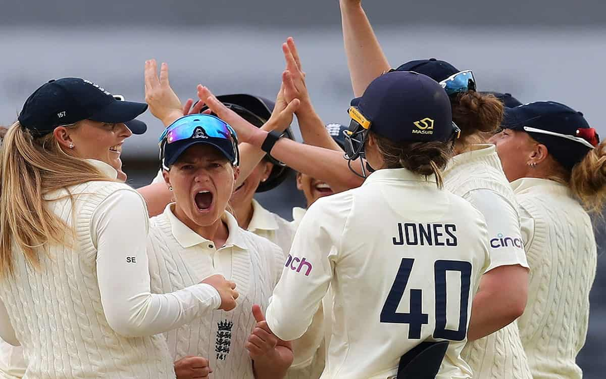 Cricket Image for The First Innings Of The Indian Womens Team In Front Of England Was Reduced To 231
