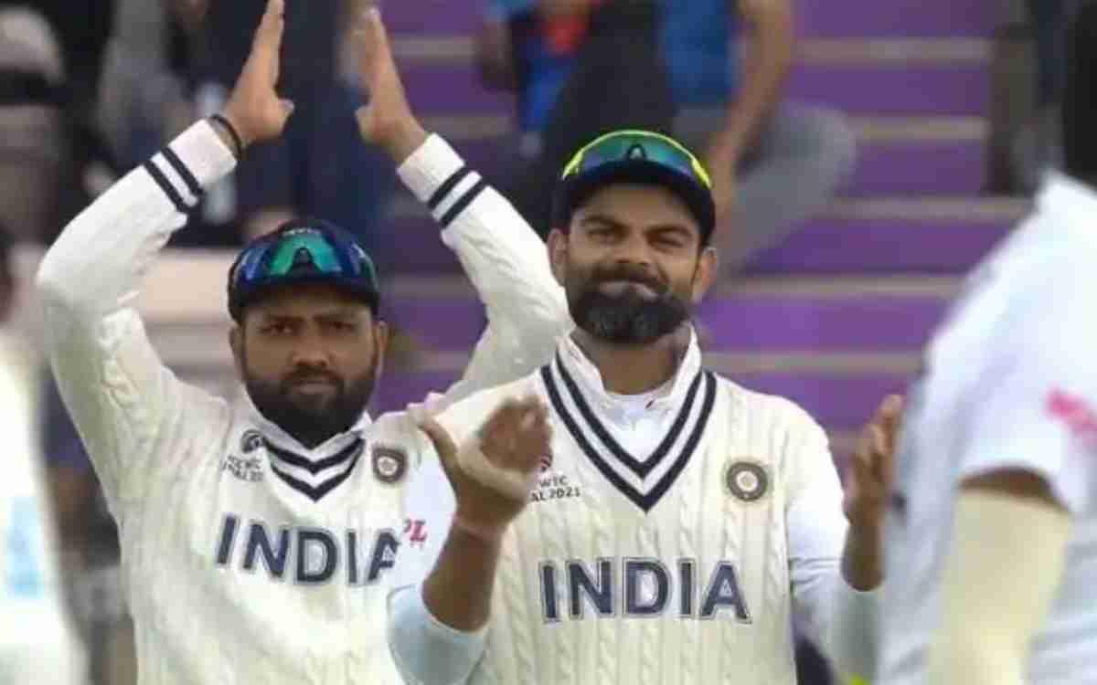 Cricket Image for विराट कोहली के रिएक्शन पर भड़के फैंस, ये है रोहित और विराट की वायरल फोटो का सच