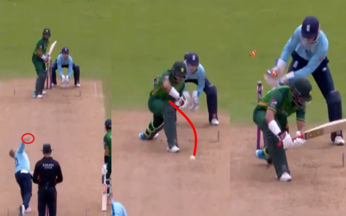 Cricket Image for Eng Vs Pak 2021 Matt Parkinson Delivery To Imam Ul Haq Watch Video