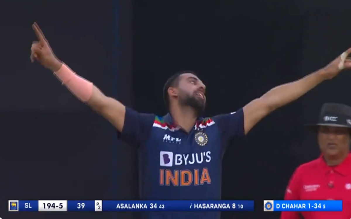 Cricket Image for Ind Vs Sl 2nd Odi Deepak Chahar Bowled Wanindu Hasaranga With A Slower Ball Watch