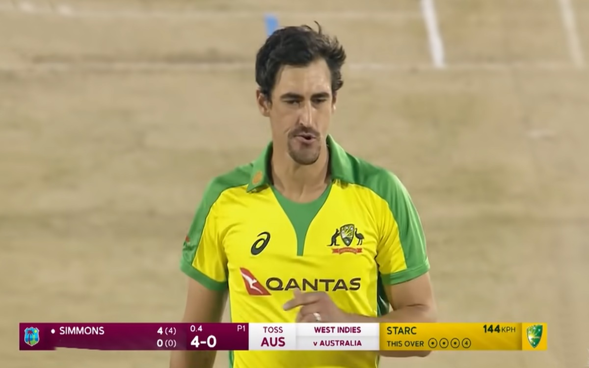 Cricket Image for Wi Vs Aus Mitchell Starc Looked Helpless In Front Of Andre Fletcher And Lendl Simm