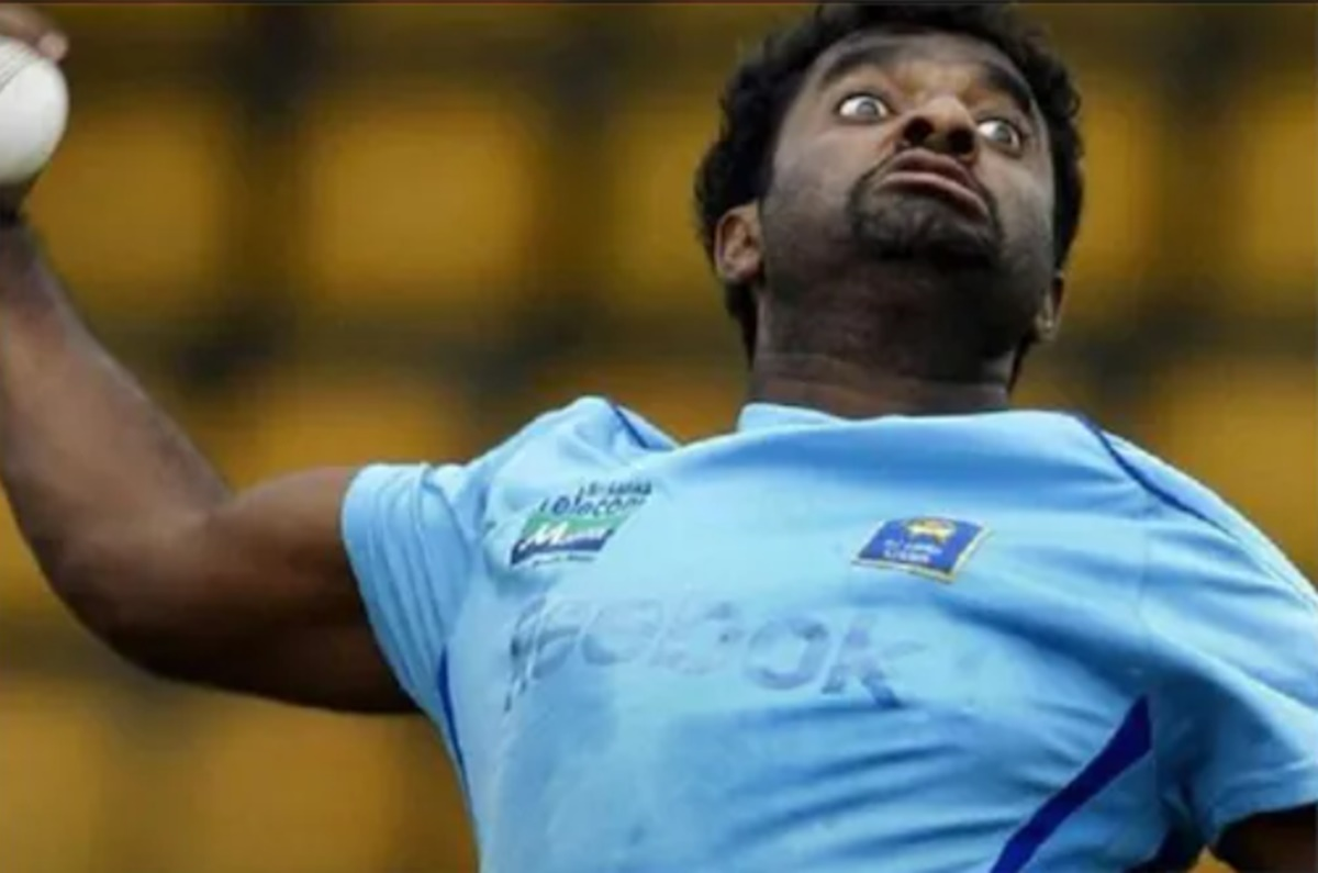 Cricket Image for Muttiah Muralitharan Son Naren Mirrors His Father Bowling Action