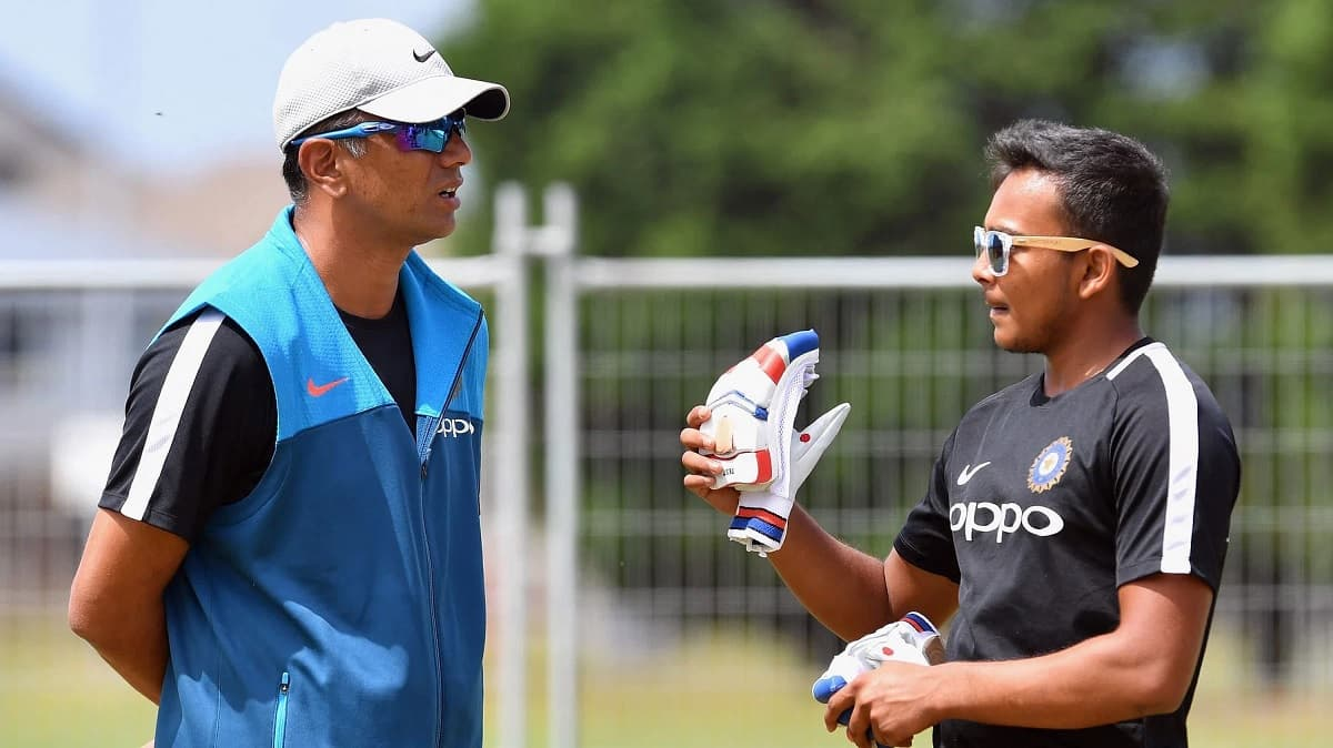 There's a different kind of enjoyment playing under Rahul sir', Shaw hails Dravid's 'out of the worl