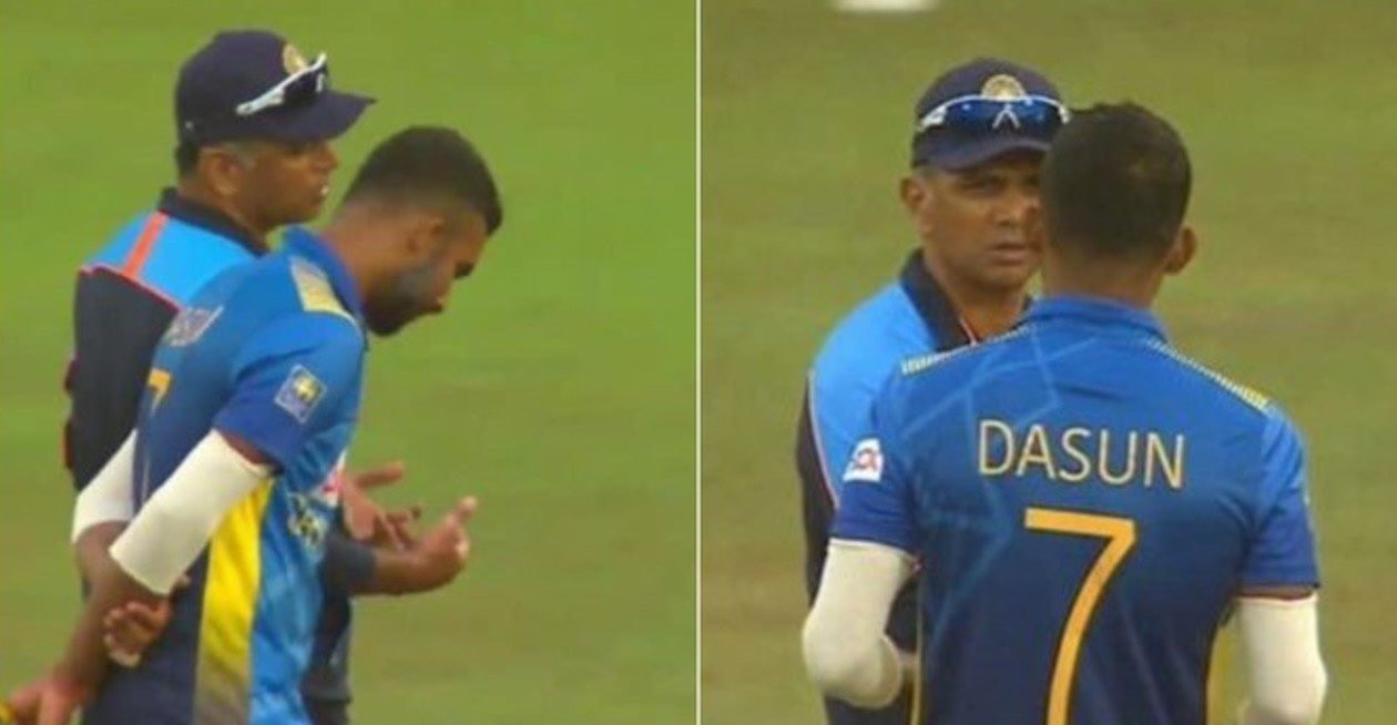SL vs IND - Here is what Rahul Dravid told Dasun Shanaka on field during the 3rd ODI