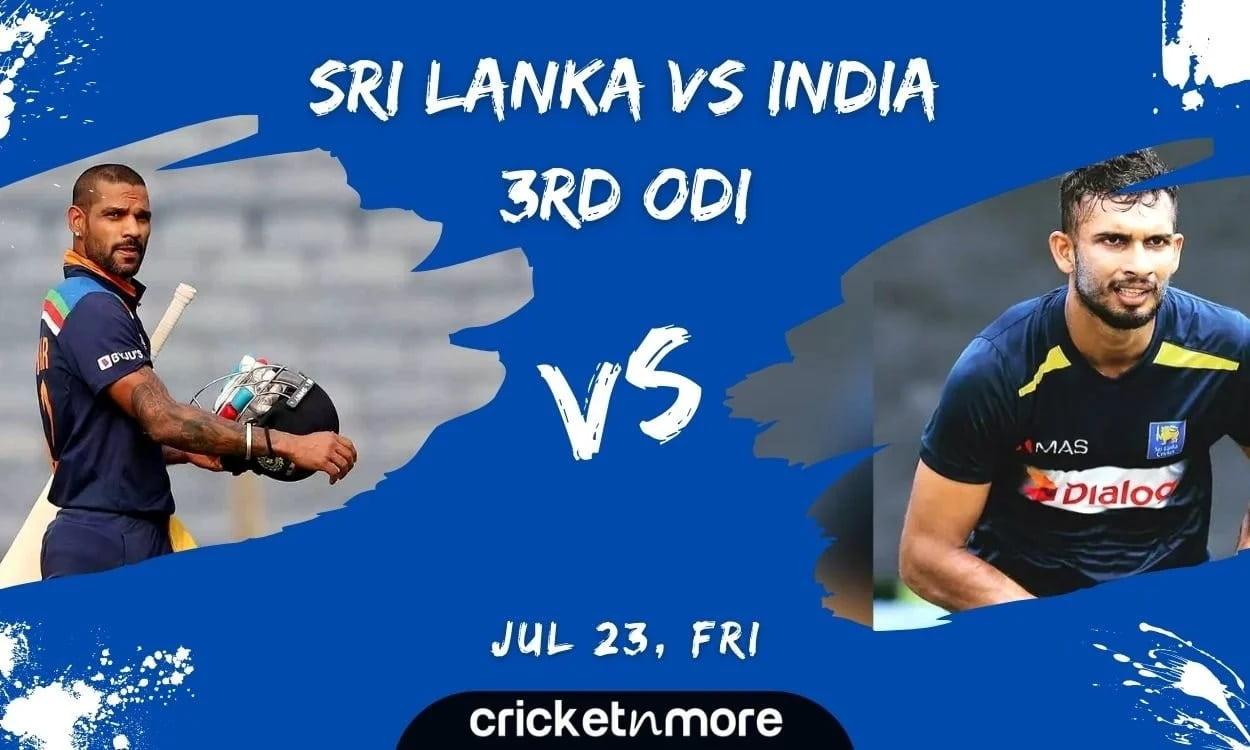 Sri Lanka vs India, 3rd ODI, Match Prediction, Fantasy XI Tips & Probable XI