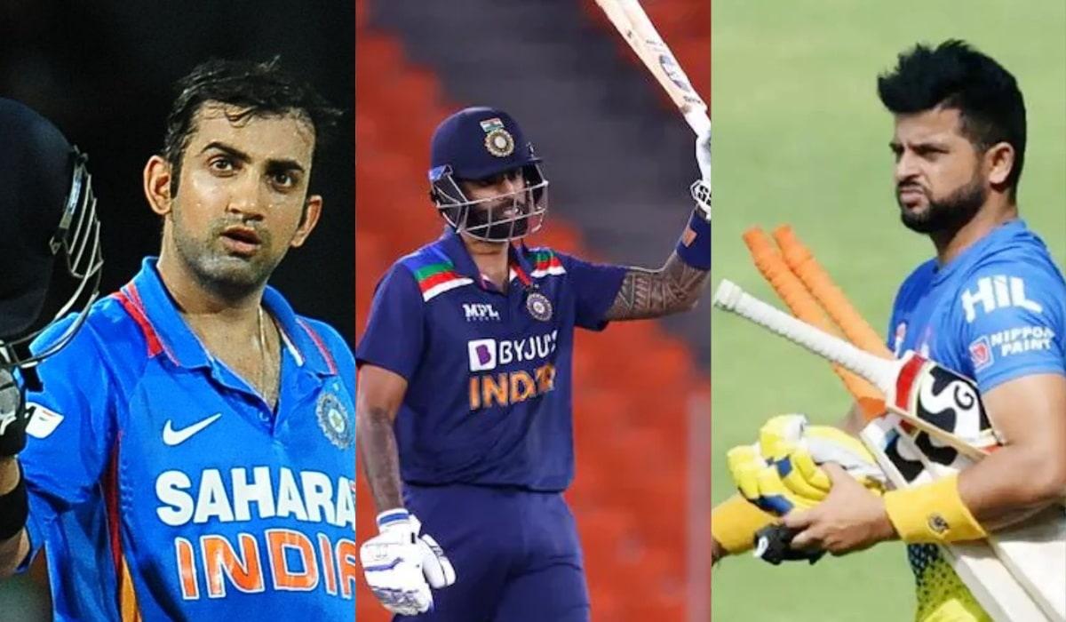 Suryakumar Yadav breaks record of Gautam Gambhir and Suresh of most runs in first 3 innings of T20i