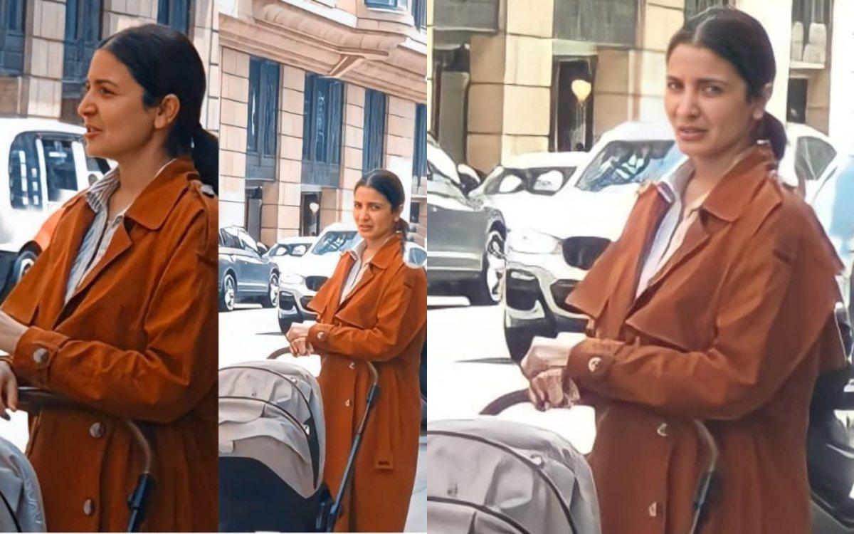 Cricket Image for Virat Kohli Wife Anushka Sharma Was Seen Walking On The Streets Of England With Da