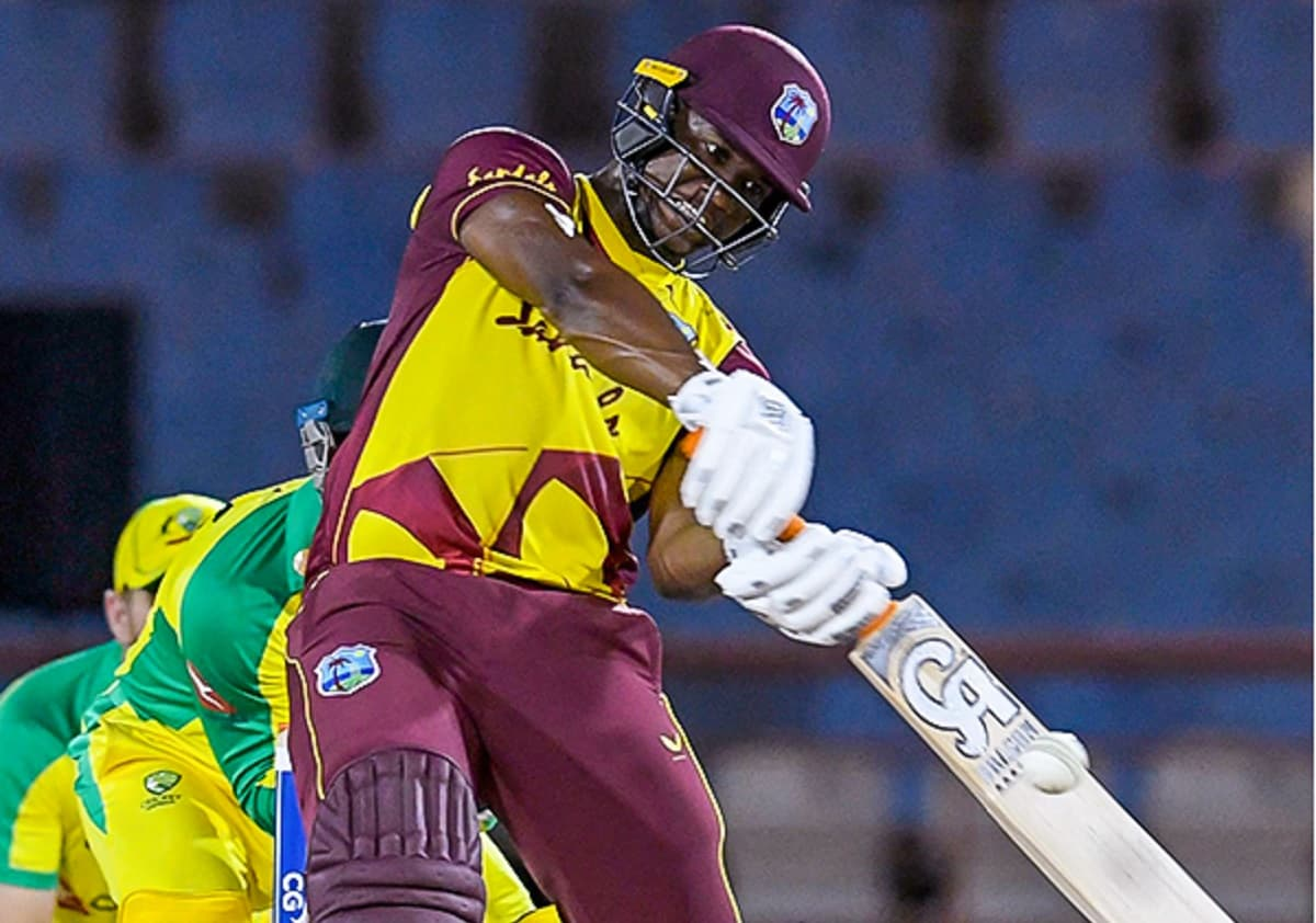 WI vs AUS - Evin Lewis made the record of fastest 100 sixes in T20I