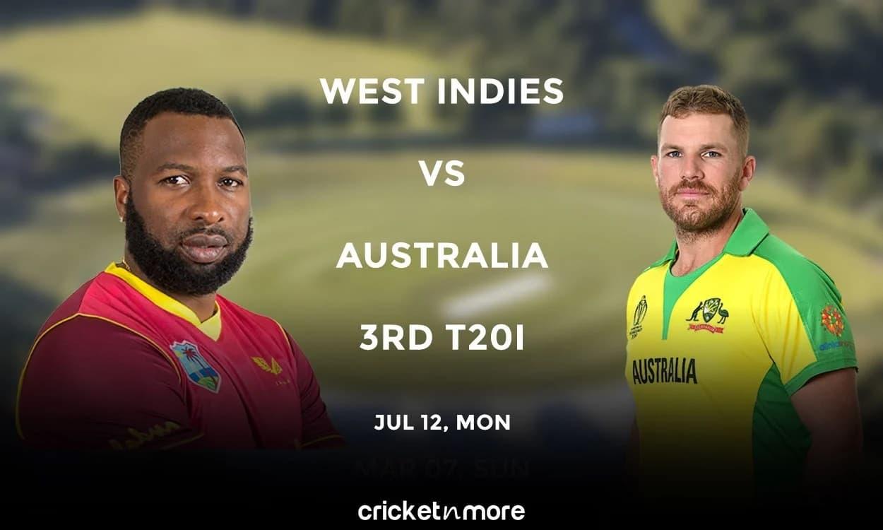 West Indies vs Australia, 3rd T20I – Fantasy XI Tips, Match Prediction & Probable XI