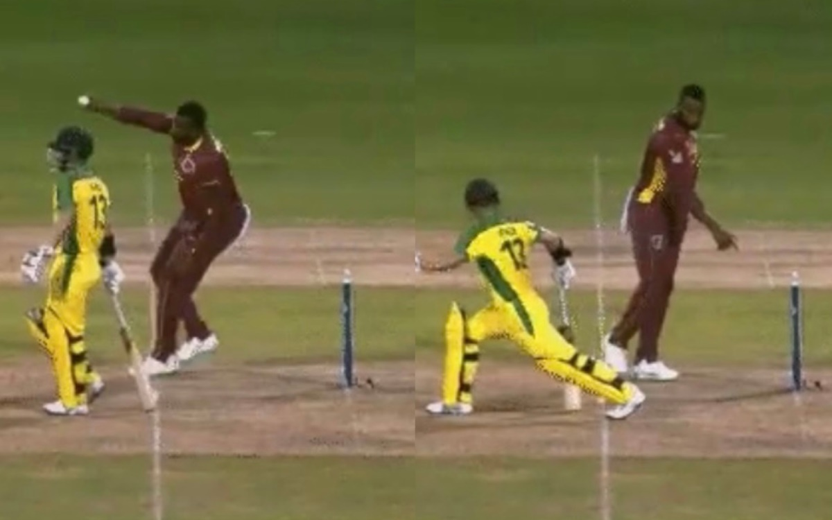Cricket Image for West Indies Vs Australia Kieron Pollard Decides Not To Mankad Matthew Wade Watch V