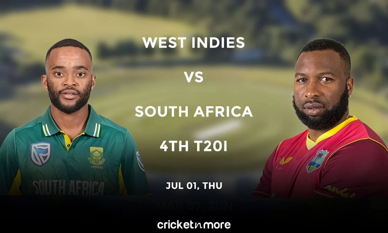 West Indies vs South Africa, 4th T20I – Prediction, Fantasy XI Tips & Probable XI
