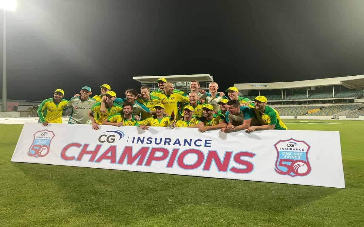 Cricket Image for WI vs AUS: वींडीज को तीसरे वनडे में रौंदकर ऑस्ट्रेलिया का सीरीज पर कब्जा