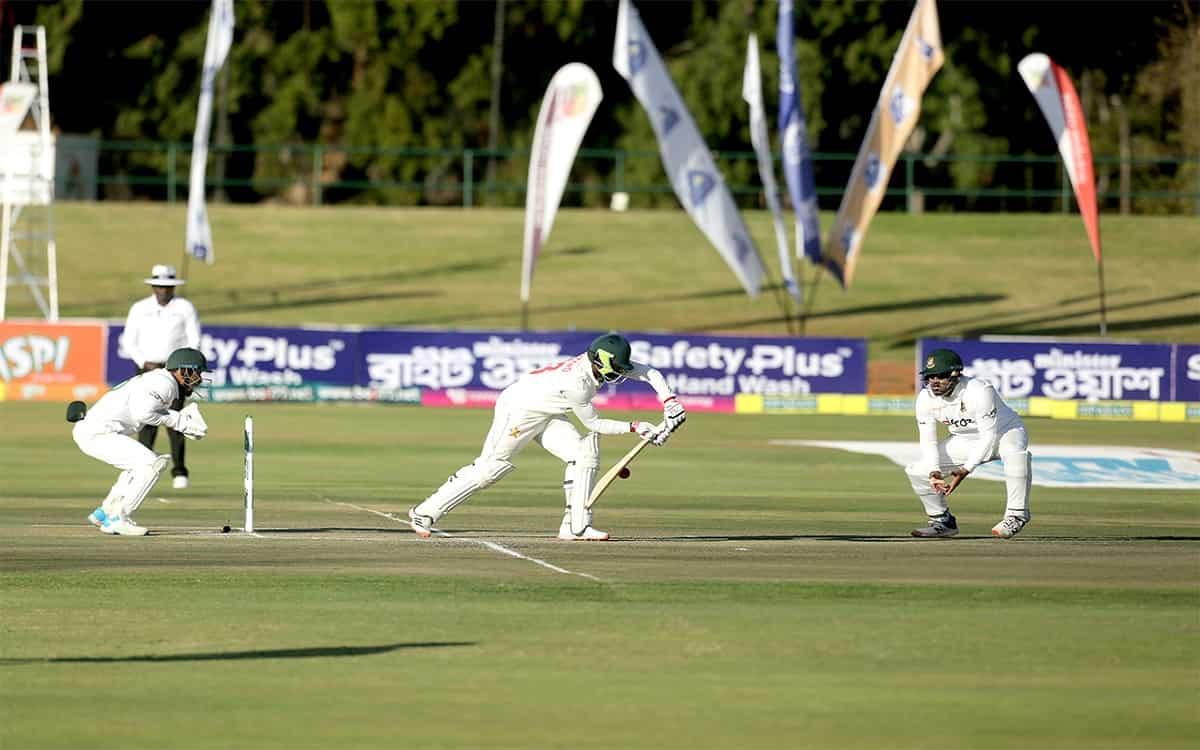 Cricket Image for Bangladesh Scored 468 Runs In First Innigs With Mahmudullahs Unbeaten 150 Runs Aga