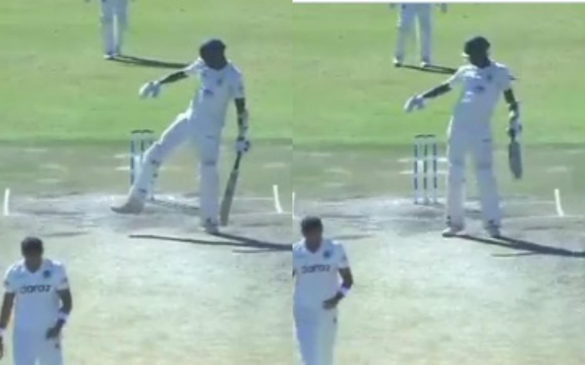 Cricket Image for VIDEO : मुजरबानी ने चौका लगाकर किया ब्रेक़ डांस, तस्कीन अहमद को दिया करारा जवाब