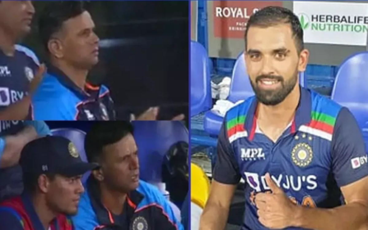 Cricket Image for Ind Vs Sl 2nd Odi Rahul Dravid Has Come Down From The Dressing Room