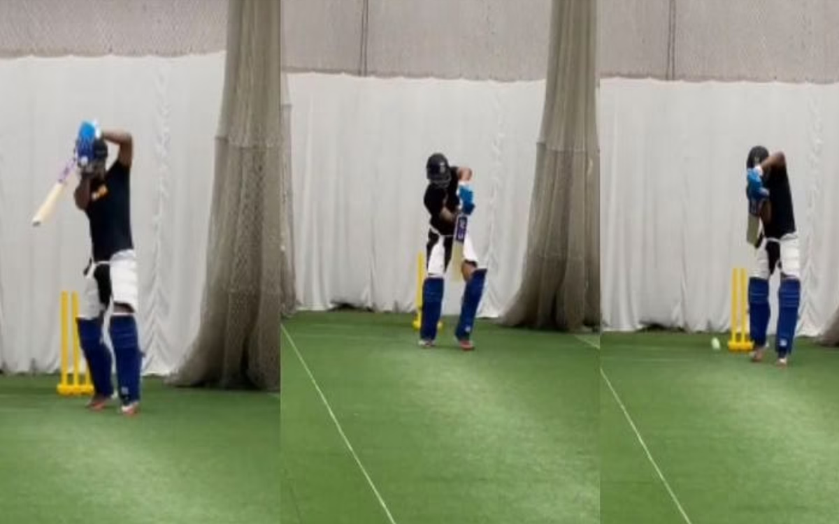 Cricket Image for Delhi Capitals Captain Shreyas Iyer Hits The Nets After A Long Time Watch Video