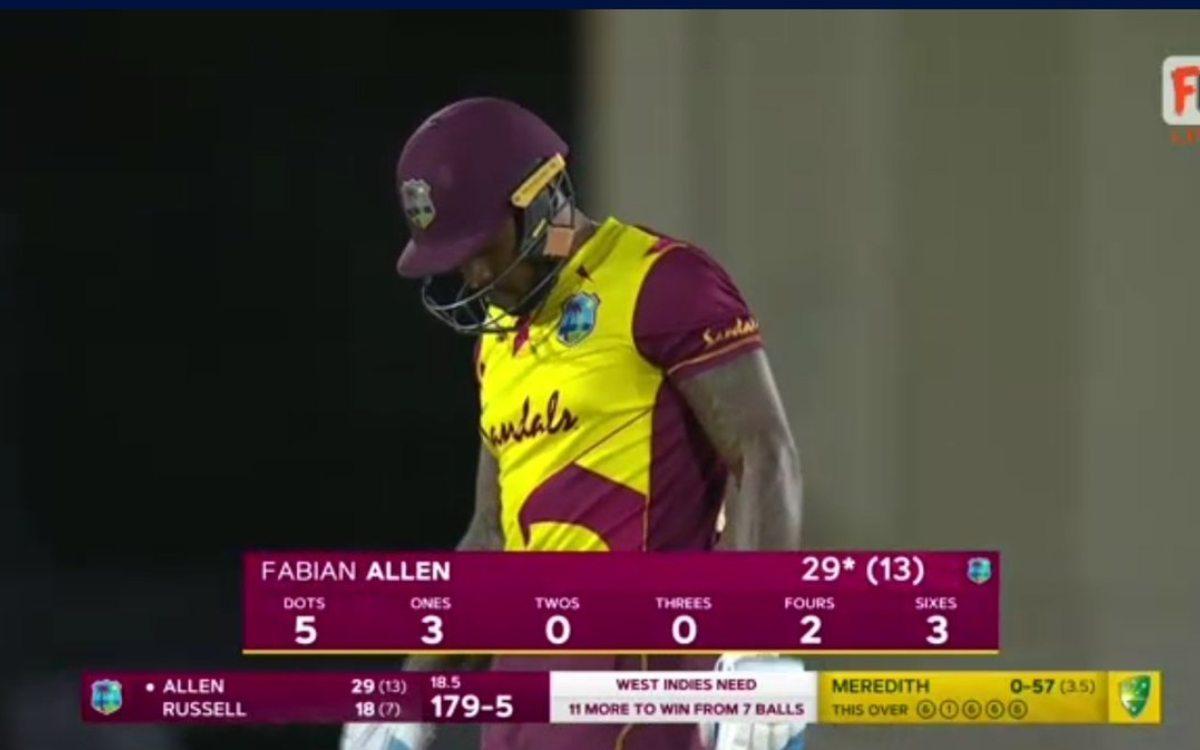 Cricket Image for 4 ओवर में लुटाए 57 रन और आखिरी ओवर में खाए चार छक्के, फेबियन एलेन को अपने ही दोस्त
