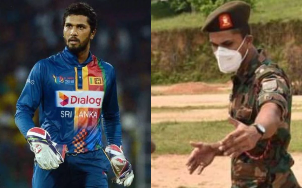 Cricket Image for Former Srilanka Captain Dinesh Chandimal Making Good Progress In Army