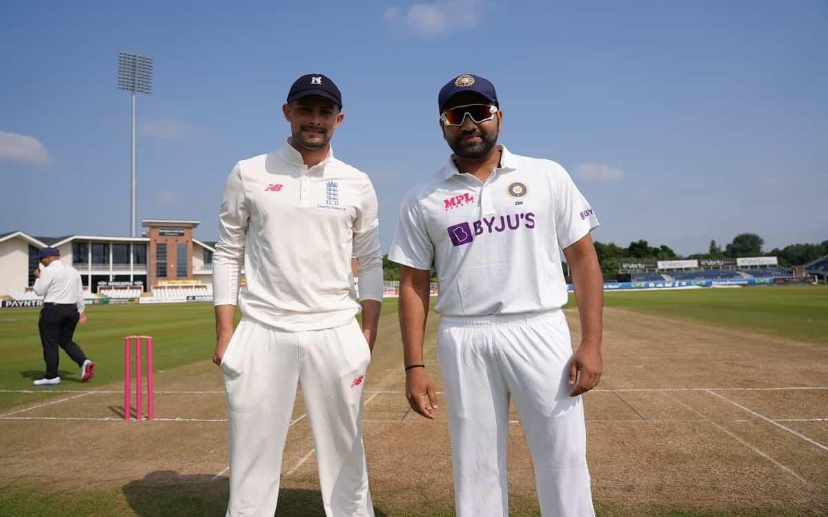 Cricket Image for  अभ्यास मैच में काउंटी XI के खिलाफ भारत ने जीता टॉस, कप्तान रोहित ने किया पहले बल्