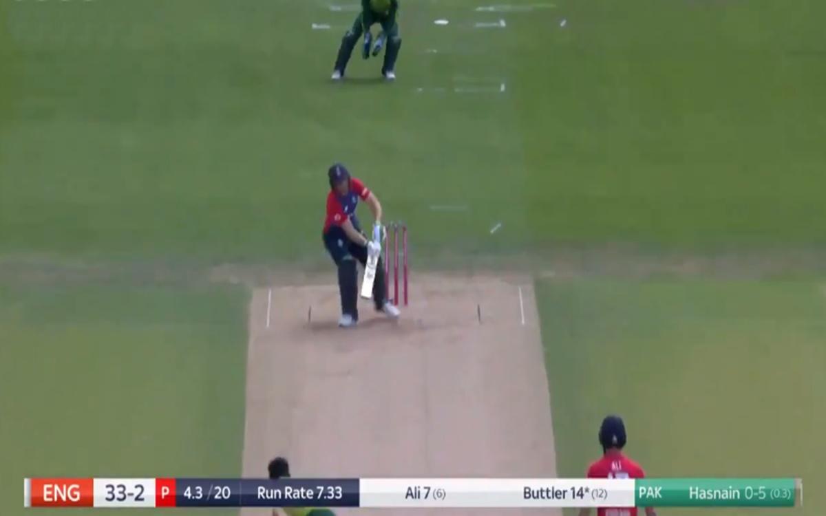 Cricket Image for Eng Vs Pak 2nd T20 Jos Buttler Scoop Shot Watch Video