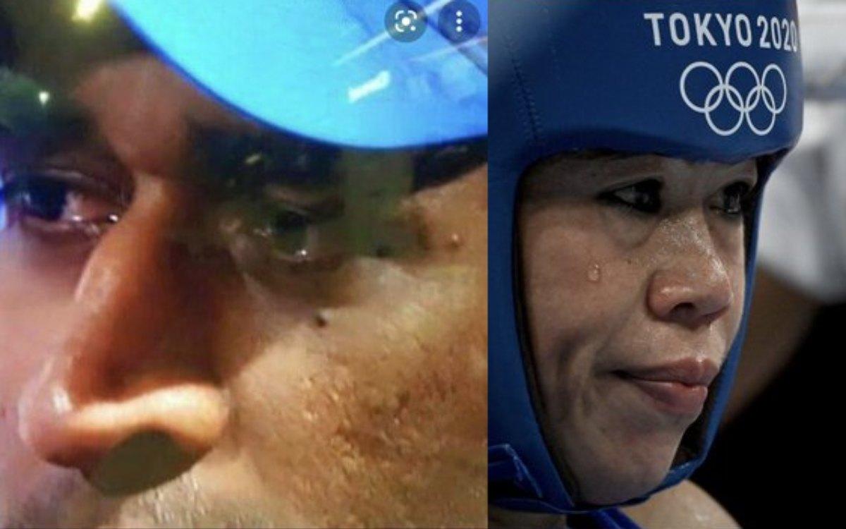 Cricket Image for मैरी कॉम की हार से आई धोनी की याद, भारतीय फैंस का निकला रोना