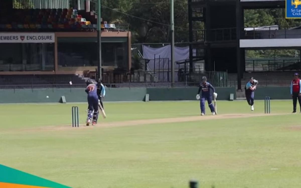 Cricket Image for VIDEO : नवदीप सैनी के सामने बेबस नजर आए पड्डिकल, खतरनाक गेंद से चटकाया विकेट