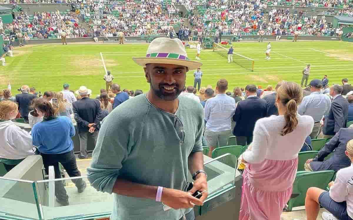 Cricket Image for On A Break, Indian Cricketers Enjoy Euro 2020, Wimbledon
