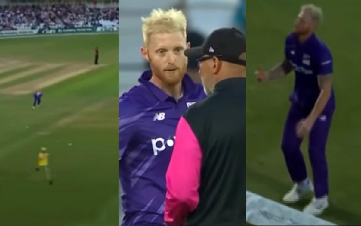 Cricket Image for VIDEO : 'स्टोक्स की प्लानिंग बन गई बेवकूफी', मैदान में घुसा शख्स और एकदम से पलट गय