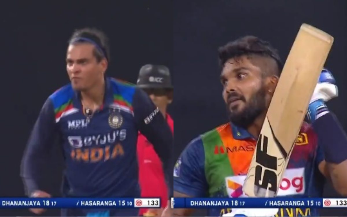 Cricket Image for Ind Vs Sl 2nd T20 Rahul Chahar Lost His Cool After Taking A Wicket