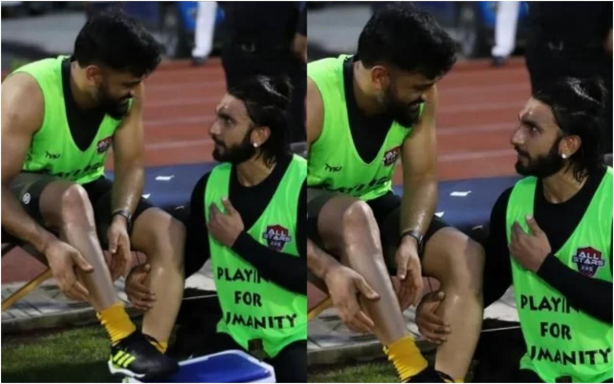 Cricket Image for 'बड़े भाई के चरणों में हमेशा', रणवीर सिंह ने 'धोनी प्रेम' से जीता फैंस का दिल
