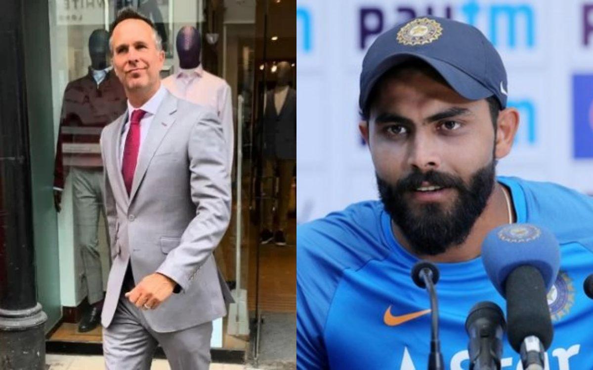 Cricket Image for माइकल वॉन ने खुद को बताया, '46 साल का मॉडल', फिर रविंद्र जडेजा ने किया फोटो पर रिए