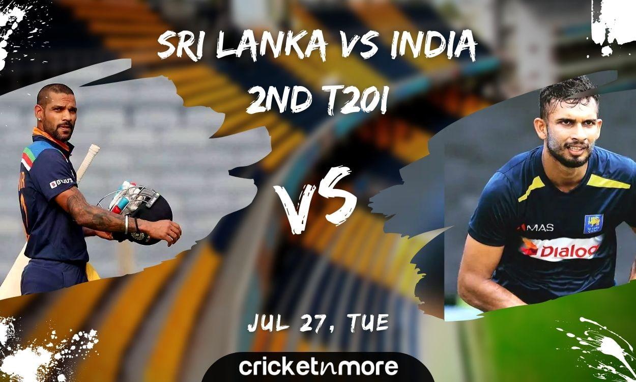 Cricket Image for Sri Lanka vs India, 2nd T20I – Match Prediction, Fantasy XI Tips & Probable XI