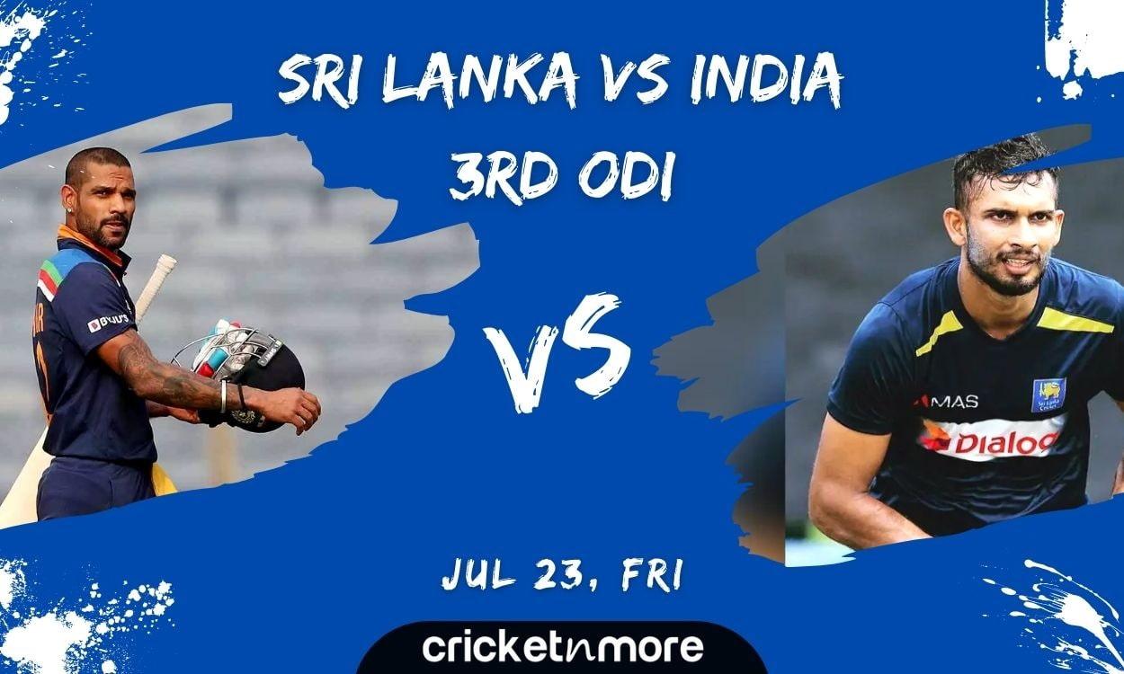Cricket Image for Sri Lanka vs India, 3rd ODI – Match Prediction, Fantasy XI Tips & Probable XI