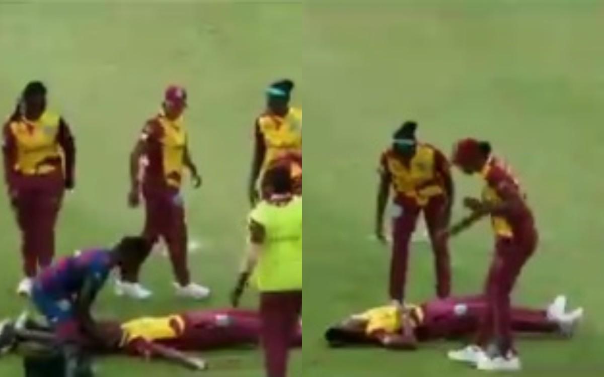 Cricket Image for VIDEO : क्रिकेट के मैदान पर होते-होते बची अनहोनी, WI की दो महिला खिलाड़ी लाइव मैच