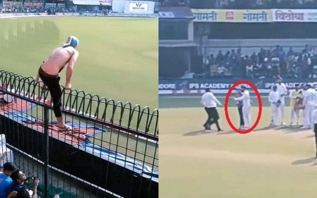 Cricket Image for Virat Kohli Had Protected The Fan Watch Viral Video